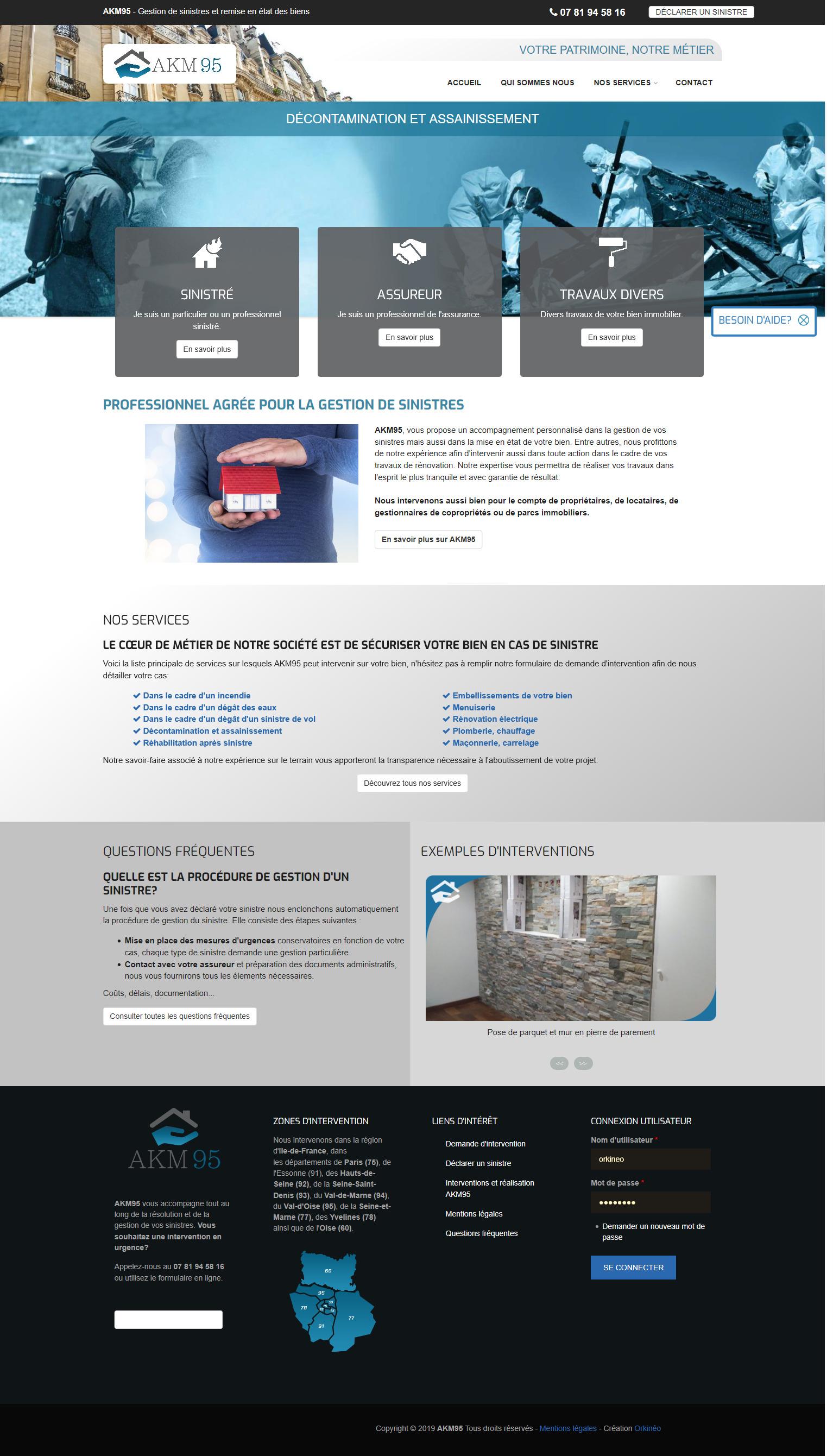 Site web AKM95