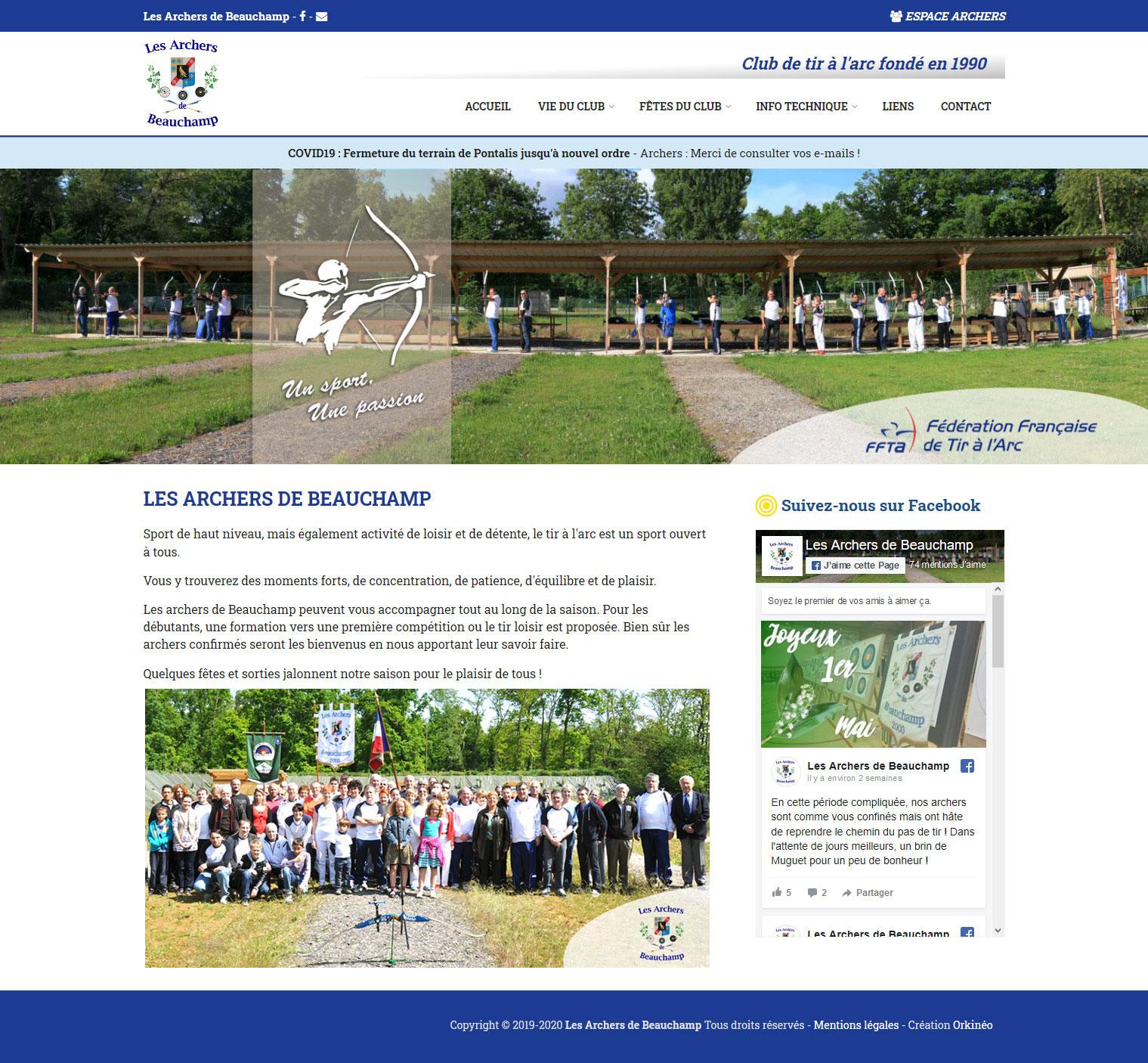 Site web Les archers de Beauchamp