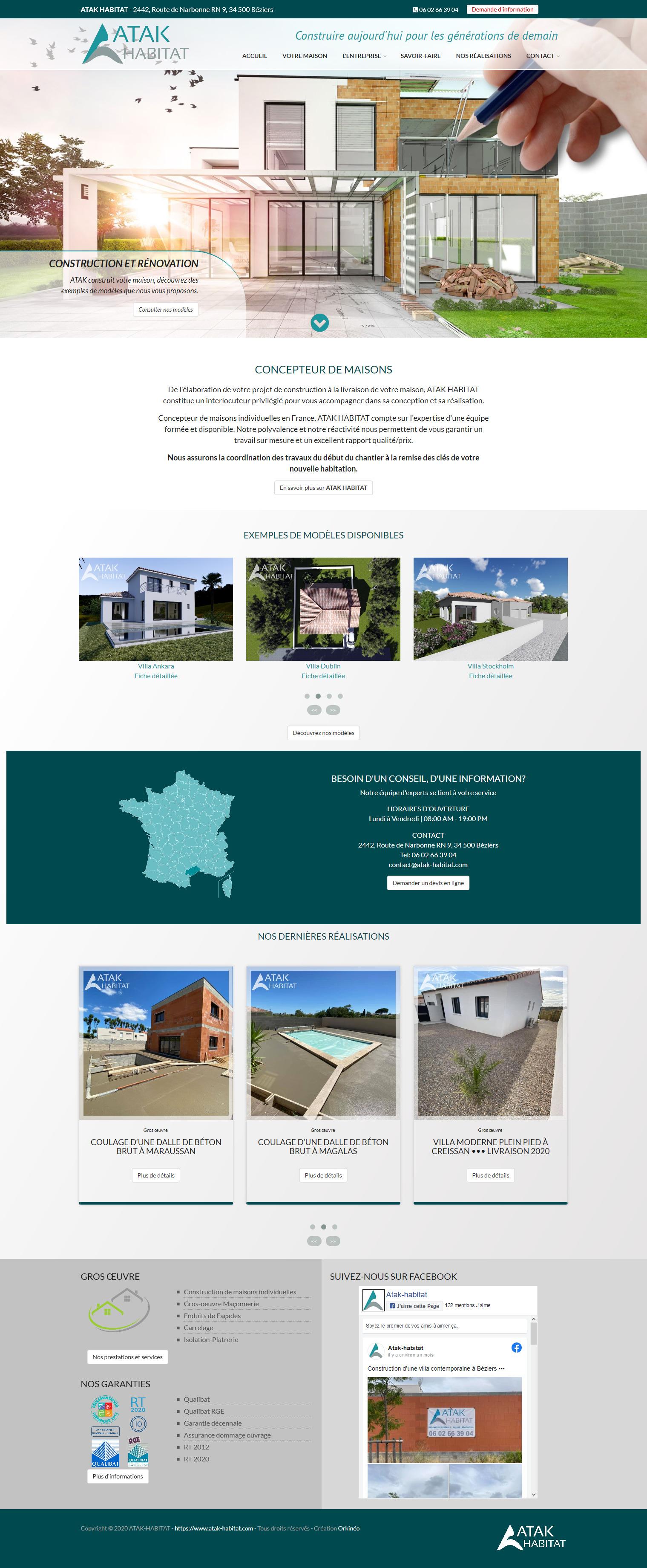 Site web Atak Habitat