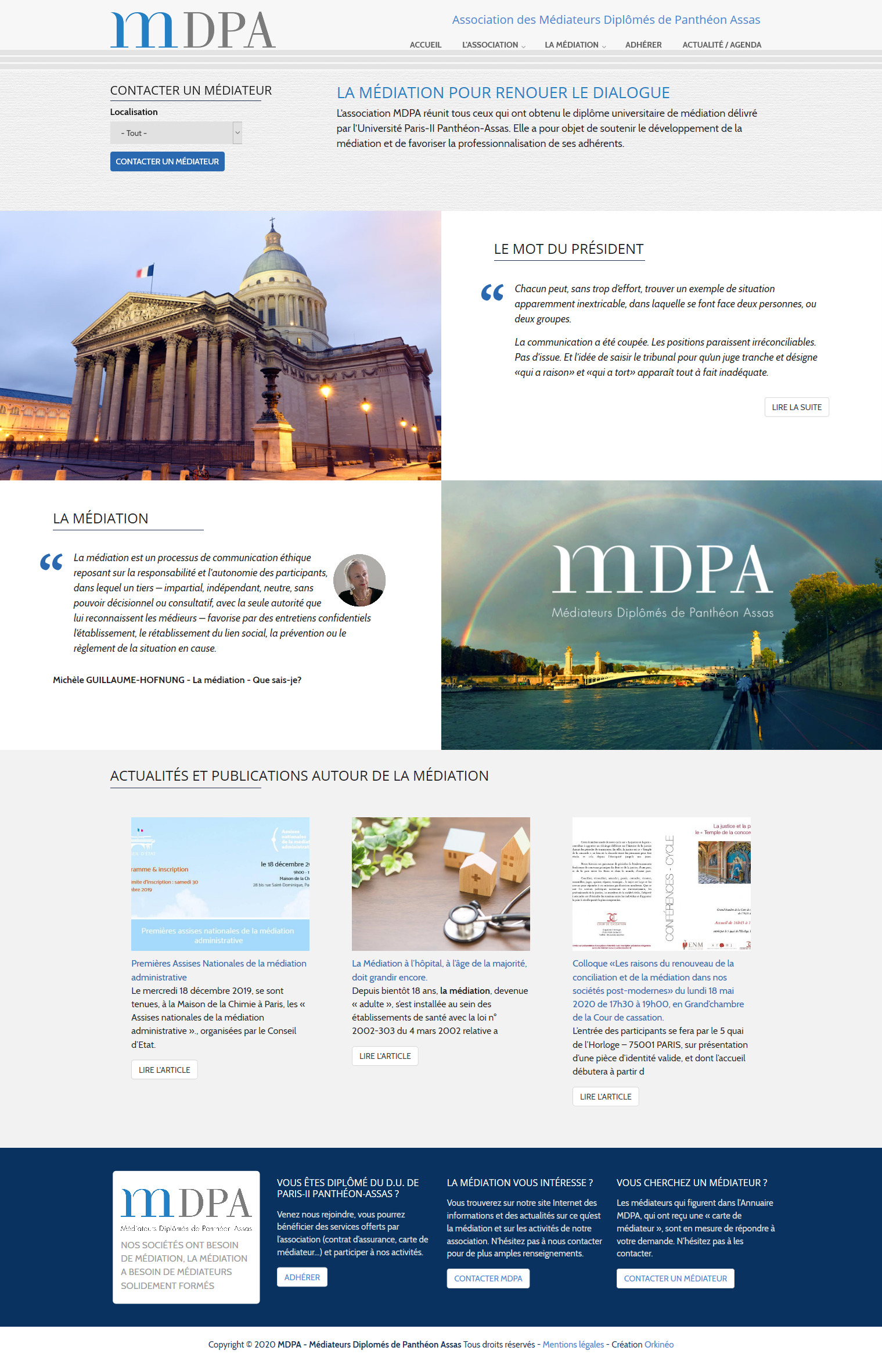 Site web MDPA Médiateurs