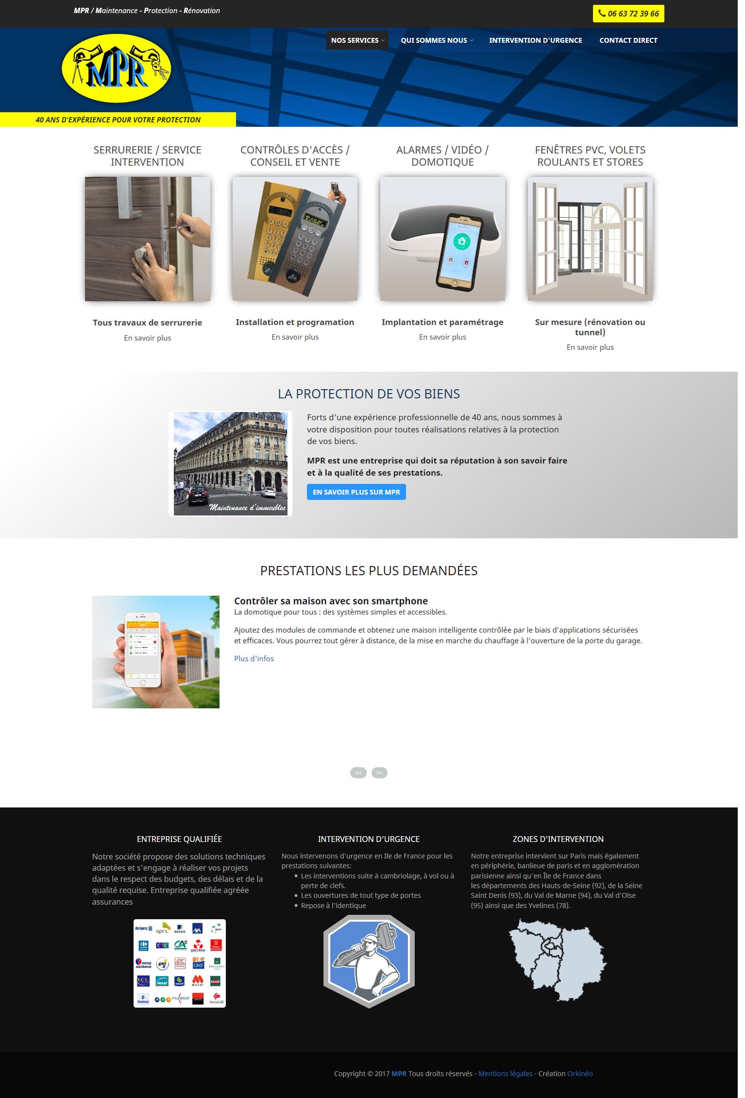 Site web MPR Sécurité