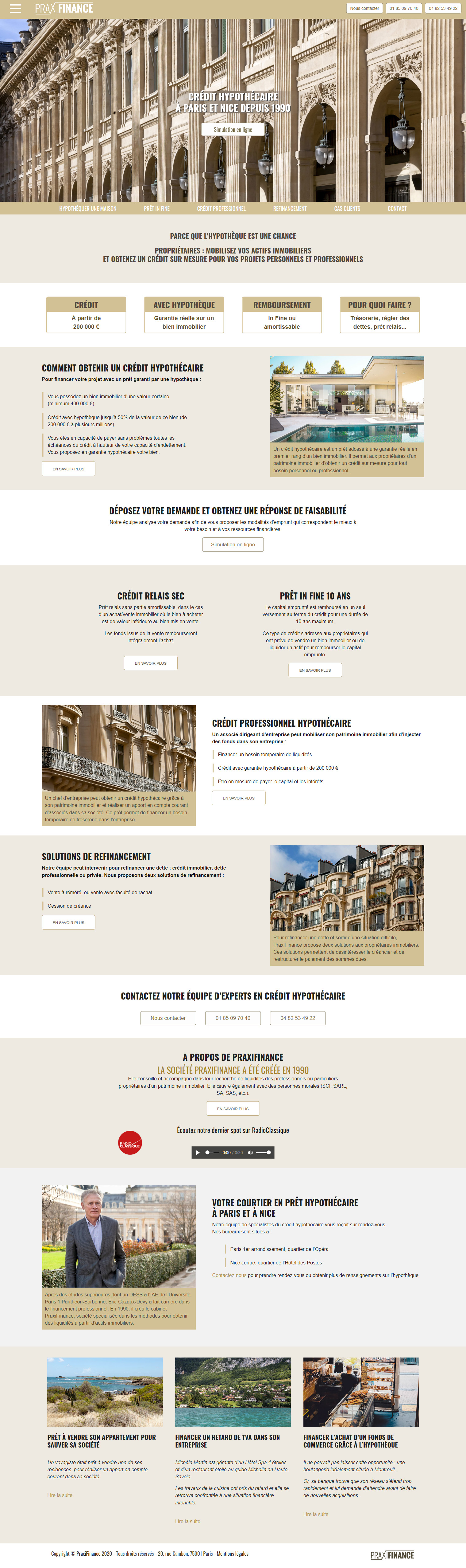 Création sites web finances