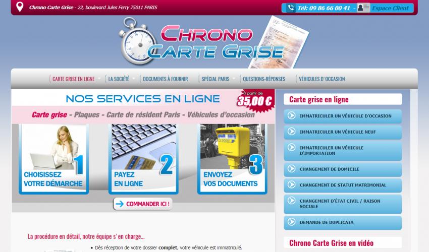 Chrono Carte Grise