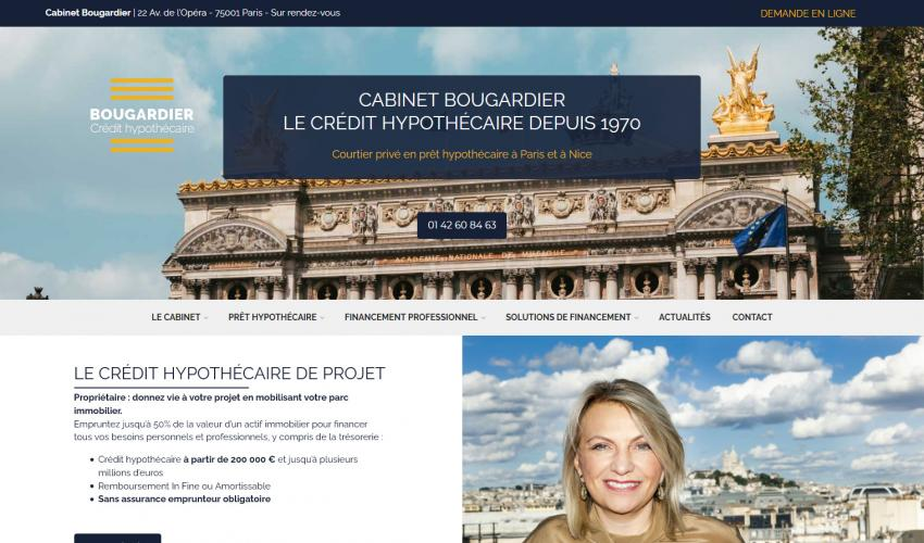 Site web Cabinet Bougardier