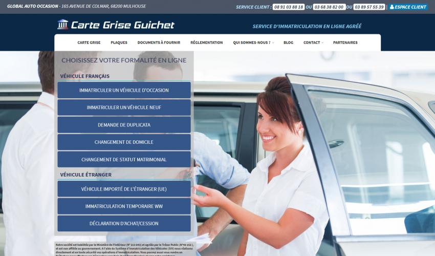 Site web Carte Grise Guichet