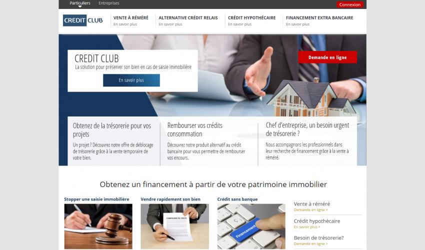 Site web Crédit Club