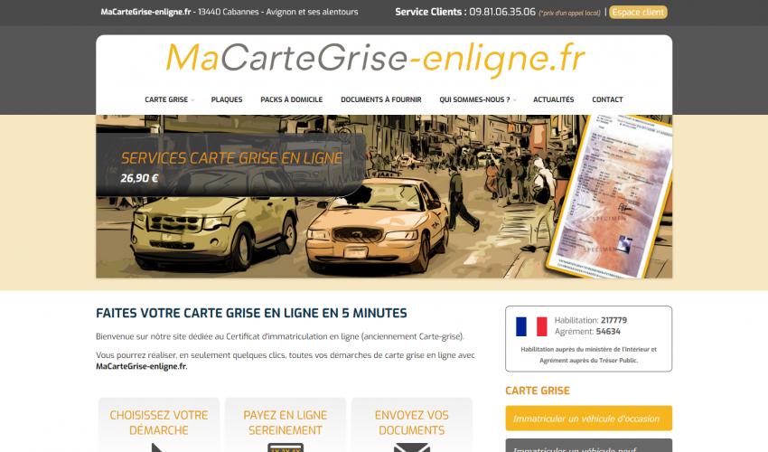 Site web MaCarteGrise-enligne.fr