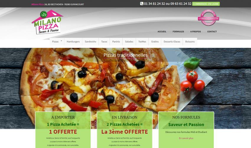 Site web pizzeria