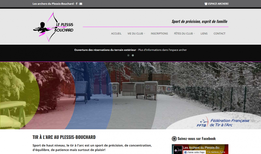 Création site web association sportive