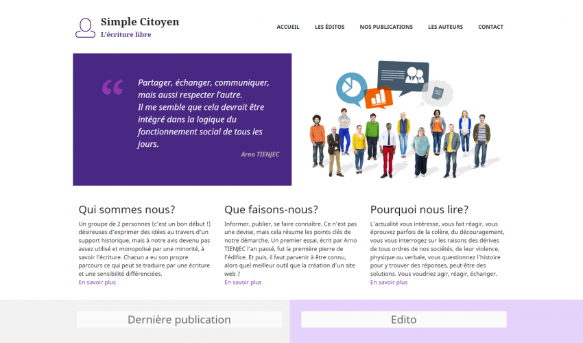 Site web Simple Citoyen